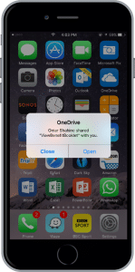 OneDrive mobile notifications